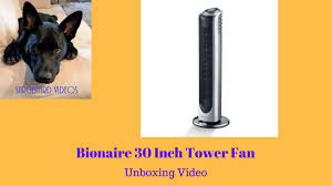 30 inch tower fan bionaire 30 inch tower fan with remote model no bt3813bs cn