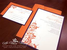 Flat Invitation Cards Blue Orange Wedding Invitations Cards Wedding Party Decoration