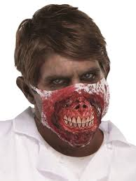 halloween face masks zombie doctor md nurse mask cannibal bloody ripped monster
