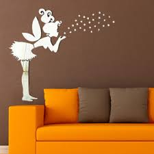 compare prices on girl wall stickers online shopping buy low angel magic fairy stars 3d mirror wall sticker kids bedroom decoration gift creative little girl