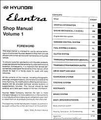 2000 hyundai elantra manual 1996 hyundai elantra repair shop manual original 2 vol set