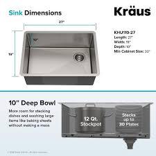 what size undermount sink fits in 30 inch cabinet kraus standart pro undermount single bowl stainless steel