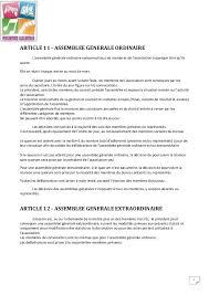 election bureau association loi 1901 assemblée générale association renouvellement bureau frais