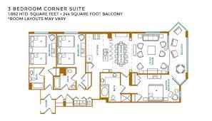 Three Bedroom Ground Floor Plan 3 Bedroom Suites At Island Vista Resort Myrtle Beach