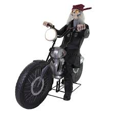 home accents holiday 53 in motorcycle riding reaper 5124415 the