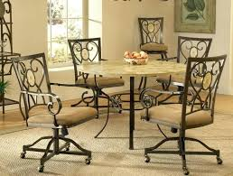 dinette table and chairs with casters dining table with caster chairs medium size of side chairs with