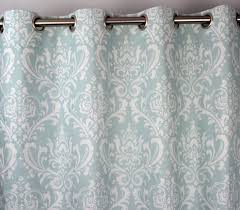 Pale Blue Curtains Powder Light Pale Sky Blue White Ozborne Damask Curtains