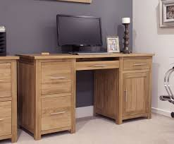 Pedestal Computer Desk Opus Solid Oak Large Pedestal Desk Oak Furniture Uk