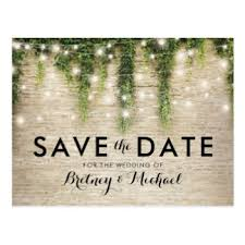 rustic save the dates custom wedding save the date postcards