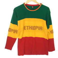 Flag Sweater Acrylic Ethiopia Sweater In Ethiopian Flag Colors The Ugly