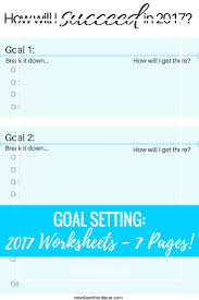 Setting Worksheets Goal Setting My Goals For 2017 New Dawn Boutique