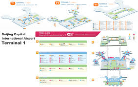 Beijing China Map by Beijing Capital International Airport Terminal 1 Map