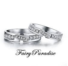promise ring sets his and hers matching wedding rings set 925 sterling silver with