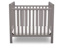 Crib Mini Classic Mini Crib With Mattress Convertible To Bed Delta