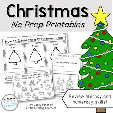 christmas worksheets and booklet no prep little lifelong learners
