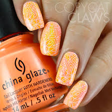 copycat claws neon watercolor nail art