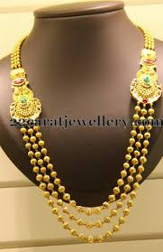 long gold beads necklace images Gold beads necklace with motifs jewellery designs jpg