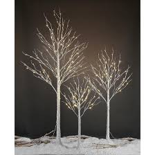 lightshare 4 led birch tree decoration light warm white lights