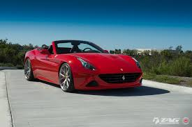 ferrari coupe convertible lowered convertible ferrari california rocking a set of vossen