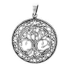 925 sterling silver tree of celtic knots pendant silvermania925
