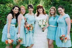 picture of trendy mismatched bridesmaids u0027 dresses ideas