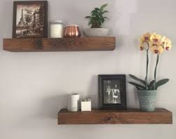 Wooden Shelves For Bathroom Wall Shelves Etsy