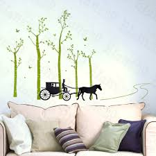 country road wall decor stickers art decals country road wall