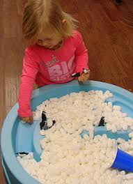 Sand Table Ideas Add Penguin Toys Packing Peanuts To Sand Water Table Coming