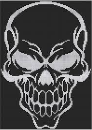 halloween skull counted cross stitch pattern door hornswogglestore