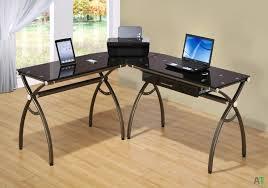 l shaped desk glass z line belaire glass l shaped computer desk dimensions best home