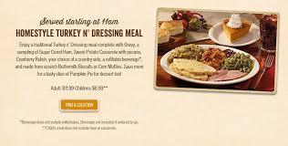 turkey dinner to go cracker barrel thanksgiving dinner menu 2015 to go meals heavy