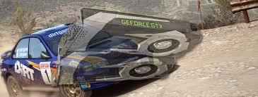 comparaison siege auto dirt 4 dirt rally nvidia gtx 1060 frame rate benchmark