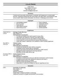 administrative coordinator cover letter resume resume examples