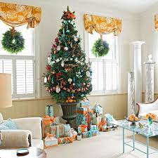 Christmas Living Room by Home Decoration Simple Living Room Christmas Decoration Cheerful
