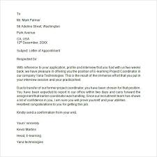 brilliant ideas of sample appointment letter format india for