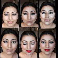 contour makeup using la girls hd concealers and anastasia contour