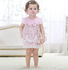 Popular ̀ •́ Bebê Recém-nascido Meninas Dresse Rosa de Algodão Moda Bebê  &WK55