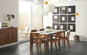 Linden Table With Afton Chairs In Walnut Modern Dining Room - Room and board dining table