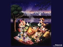 disney halloween screensavers wallpapers disney screensaver disney picnic fire night gather dinner