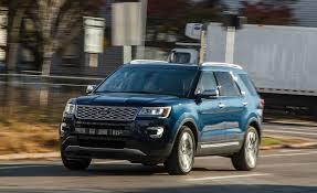 ford explorer 2017 black 2017 ford explorer platinum test u2013 review u2013 car and driver