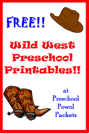 free wild west printables preschool powol packets
