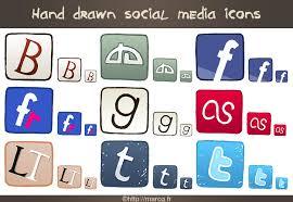 hand drawn social media icons by marc g on deviantart