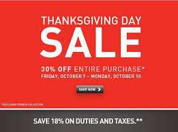 thanksgiving day sale 30 price purchase oct