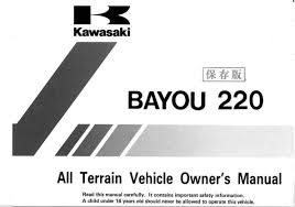 1998 kawasaki bayou 220 u2014 owner u0027s manual u2013 132 pages u2013 pdf