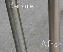 Chrome Table Legs by Flea Market Revamp How To Remove Rust From Chrome Vintage Table Legs