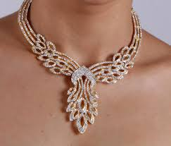white stone necklace sets images Latest designs of gold jewelry for brides jpg