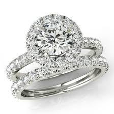 wedding sets for 1 50 ct forever one moissanite and diamond wedding set bridal set