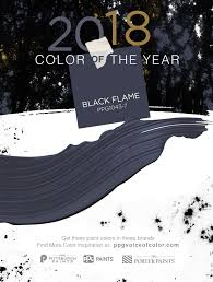 color of the year 2018 black flame acts like a black curtain