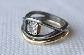 3d printed engagement ring kari s wedding ring 3d printed in titanium i materialise with