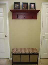 Entryway Storage Bench With Coat Rack Fancy Entryway Storage Bench Coat Rack Mounted By Black Iron Coat